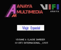 Viaje Espacial (1985, MSX, Anaya Multimedia)