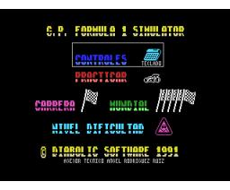 G.P. Formula 1 Simulator (1991, MSX, Diabolic)