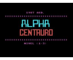 Alpha Centauro (1987, MSX, A.G.D.)