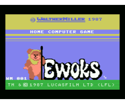 Ewoks (1987, MSX, Walther Miller)
