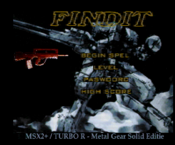 Findit - Metal Gear Solid Edition (2000, MSX2+, Turbo-R, Delta Soft)