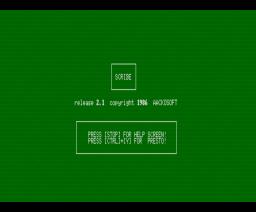 Aackoscribe (1986, MSX, MSX2, Aackosoft)