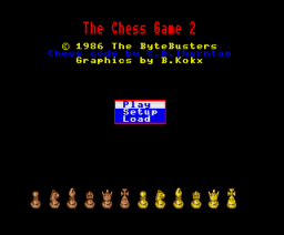 The Chess Game 2 (1986, MSX2, The Bytebusters)