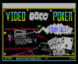 Las Vegas Video Poker (1986, MSX, Mastertronic)