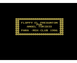 Floppy el pregunton (1986, MSX, Manhattan Transfer)
