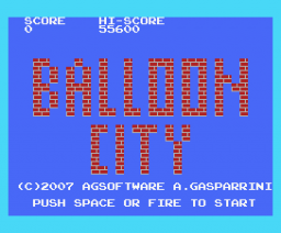 Balloon City (2007, MSX, AG Software)
