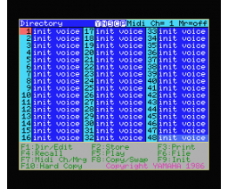 DX7 Voicing Program II (1986, MSX, YAMAHA)