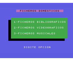 Ficheros domésticos (1985, MSX, Ace Software S.A.)
