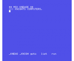 MSX Knease (MSX, Knights Computers)