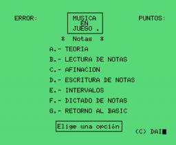 Música en Juego I - Notas (1986, MSX, DAI)