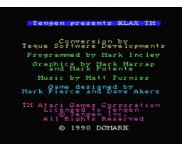 Klax (1990, MSX, Domark)