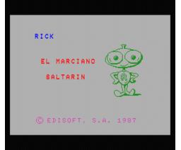 Rick el Marciano Saltarin (1987, MSX, Edisoft)