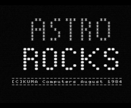 Astro Rocks (1984, MSX, Kuma Computers)