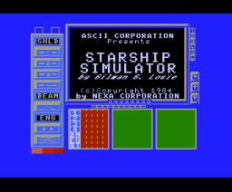 Starship Simulator (1984, MSX, NEXA)