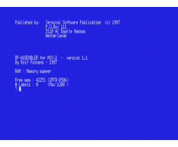 RF Assembler (1987, MSX2, Terminal Software Publicaties)