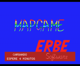 Mapgame (1985, MSX, Erbe Software)