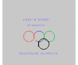 Decathlon Olimpico (1985, MSX, Infopress)