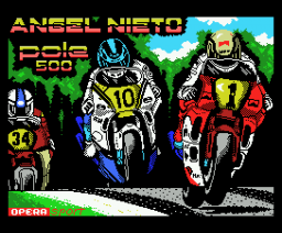 Angel Nieto Pole 500 c.c. (1990, MSX, Opera Soft)