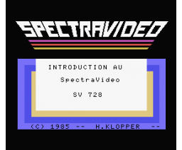 Introduction au SpectraVideo SV 728 (1985, MSX, Electronics Belgium)