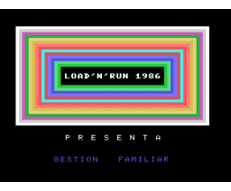 Gestion Familiar (1986, MSX, Inforpress)