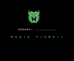 Magic Pinball (1987, MSX, OMK Software)