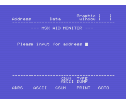 MSX-AID (1986, MSX, ASCII)