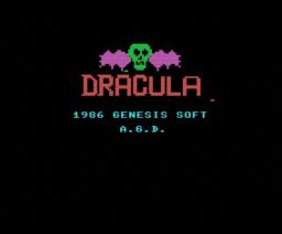 Drácula (1986, MSX, Genesis Soft, A.G.D.)