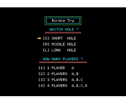 Birdie Try (1986, MSX, Compile)