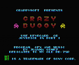 Crazy Buggy (2005, MSX, Crappysoft)