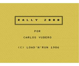 Rally 2000 (1986, MSX, Carlos Yubero)