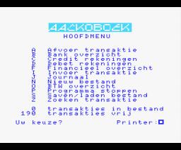 Aackoboek (1985, MSX, The Bytebusters)