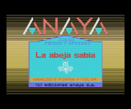 La Abeja Sabia - Analisis: Forma y Color (1986, MSX, Anaya Multimedia)