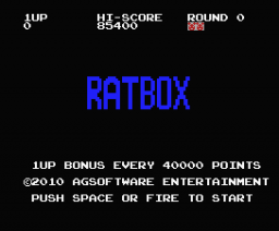 Ratbox (2010, MSX, AG Software)