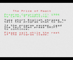 The Price of Magik (1986, MSX, Level 9 Computing)