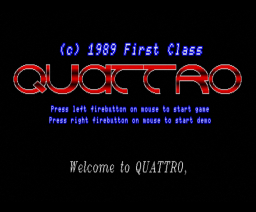 Quattro (1989, MSX2, First Class Software)
