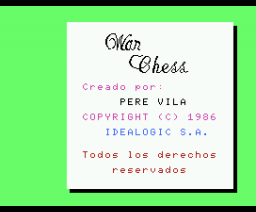 War Chess (1986, MSX, Ludic Bit)