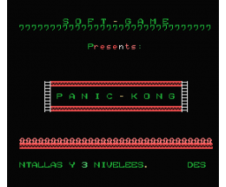 Panic Kong (1986, MSX, Soft Game)