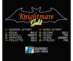 Knightmare Gold (2006, MSX2, Amusement Factory)
