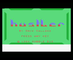 Hustler (1985, MSX, Bubble Bus)