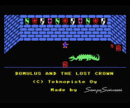 Bomulus and the Lost Crown (1986, MSX, Teknopiste)