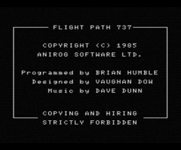 Flight Path 737 (1985, MSX, Anirog)