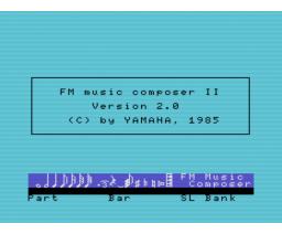 FM Music Composer II (1985, MSX, YAMAHA)