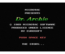 Dr. Archie (1989, MSX, Microtac Software)