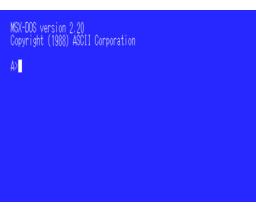 Japanese MSX-DOS 2 (1988, MSX2, ASCII Corporation)