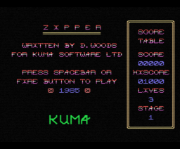 Zipper (1985, MSX, D. Woods)