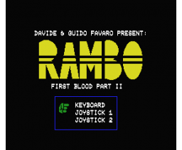 Rambo First Blood Part II (1986, MSX, Davide & Guido Favaro)
