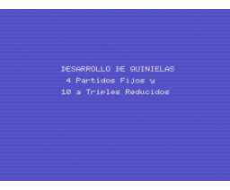Quiniela Fútbolistica 1X2 (MSX, SERMA)