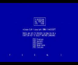 Aacko Presto (1986, MSX, MSX2, The Bytebusters)