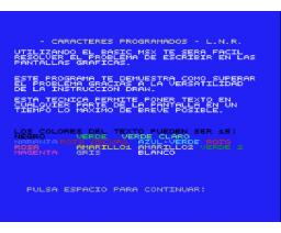 Caracteres Programados (1985, MSX, Load 'n' Run)