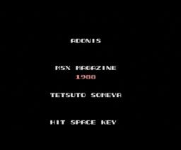 Adonis (1988, MSX, MSX2, MSX Magazine (JP))